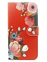 Pour Coque iPhone 6 / Coques iPhone 6 Plus / Coque iPhone 5 Portefeuille / Porte Carte / Avec Support Coque Coque Integrale Coque Fleur