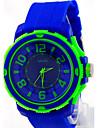 Męskie Zegarek na nadgarstek Kwarcowy Na codzień Guma Pasmo Czarny Biały Niebieski Czerwony Pomarańczowy Zielnony Różowy Purpurowy żółty