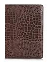 moda de alta qualidade caixa de couro de crocodilo magro para o ar ipad tampa inteligente com caso do estande de crocodilo padrao