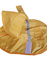 Dog Rain Coat Yellow Spring/Fall Classic Waterproof