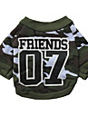 Dog T-Shirt / T-Shirt A variety of colors / Summer  Number  / Camouflage Fashion