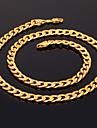 u7® мужская 18k коренастый золота заполнены ожерелье высокого качества позолоченные Фигаро цепи для мужчин 7мм 55cm 22inches