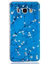 Pour Samsung Galaxy Coque Transparente Coque Coque Arriere Coque Fleur Flexible PUT pourJ7 J5 (2016) J5 J3 J2 J1 (2016) J1 Ace J1 Grand