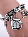 아가씨들 패션 시계 팔찌 시계 캐쥬얼 시계 석영 합금 밴드 실버 골드