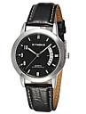 SYNOKE Men\'s Wrist watch Calendar Water Resistant / Water Proof Quartz Japanese Quartz Leather Band Black White Silver