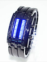 Herre Dame Par Moteklokke Unike kreative Watch LED Vannavvisende Digital Legering Band Kreativ Svart Soelv