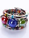 Bohemia Style Acrylic Beads Strand Bangle Bracelet (1 Set) Jewelry Christmas Gifts