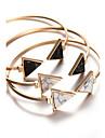 Femme Bracelets Rigides Manchettes Bracelets Boheme Personnalise bijoux de fantaisie Alliage Forme Geometrique Forme de Triangle Bijoux
