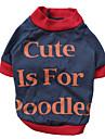Chat / Chien T-shirt Rouge / Orange Vetements pour Chien Ete / Printemps/Automne Lettre et chiffre Mode