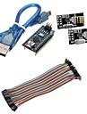 mini-nano v3.0 ATmega328P carte microcontroleur w / cable usb + nRF24L01, 2.4ghz kit emetteur-recepteur sans fil pour Arduino