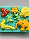 животные формы шоколада силиконовые формы, формы торта, мыло прессформы, инструменты украшения выпекание