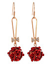 Earring Flower Drop Earrings Jewelry Women Fashion Daily / Casual Alloy 1pc Gold