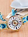 Женские Унисекс Модные часы Повседневные часы Кварцевый Материал Группа Белый Красный Розовый