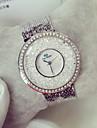 여성용 패션 시계 캐쥬얼 시계 플로팅 크리스탈 시계 석영 일본 쿼츠 캐쥬얼 시계 야광 스테인레스 스틸 밴드 스파클 럭셔리 실버 골드
