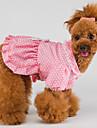 Punto de la manera Imprimir Bowknot decorado Princess Dress For Pets Dogs (diferentes tamanos)