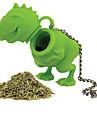 1шт силикона динозавр форма чая заварки Вкладыш ситечко травяной силиконовый фильтр диффузор