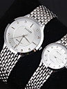 Couple\'s Dress Watch Casual Watch Quartz Japanese Quartz Casual Watch Stainless Steel Band Silver