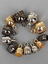 beadia 50pcs 6x9mm CCB пластиковые торцевые крышки обжимной бисер охватывает золото&темно-серый цвет&родием (4 мм отверстие)