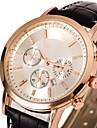 Hombre Reloj de Vestir / Reloj de Moda / Reloj de Pulsera Cuarzo Reloj Casual Piel Banda Cool Negro / Marron Marca
