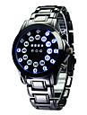 Luxury Men's Black Stainless Steel Date Digital LED Watch Bracelet Sport Watches Fashion Watch