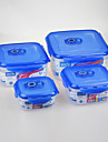 4 Κουζίνα Πλαστικό Κουτιά Κολατσιού