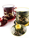 керамический набор чая волны Jinlong чашка