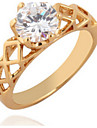 Gold AAA Zircon Fine Statement Ring for Wedding Party
