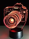 новизны 3d акрилового иллюзия зрелищности камеры светодиодные лампы USB стол свет ночью свет RGB романтично прикроватная лампа decortion