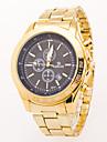Fashion Luxury Golden Steel Band Men\'s Wristwatch Business Watch With Calender Quartz Watch For Gentlemen