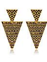 Moda Europeu Chapeado Dourado Liga Forma Geometrica Dourado Joias Para Casamento Festa Diario Casual Esportes 1 par