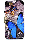 Butterfly Pattern Window Clamshell PU Leather Case with Stand for iPhone 7 7plus 6s 6 Plus SE 5s 5