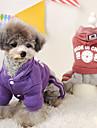 강아지 코트 후드 강아지 의류 캐쥬얼/데일리 솔리드 문자와 숫자 퍼플 레드 블루