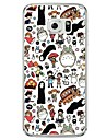 Pour Samsung Galaxy S7 Edge Transparente Motif Coque Coque Arriere Coque Dessin Anime Flexible PUT pour SamsungS7 edge S7 S6 edge plus S6