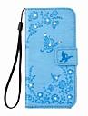 eforcase® бабочка цветок тиснением алмаз ПУ кожаный чехол для Iphone 7 7 плюс 6s 6 плюс SE 5S 5