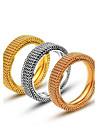 Массивные кольца Титановая сталь Винтаж Классика Мода Золотой Серебряный Розовый Бижутерия Повседневные Новогодние подарки 1шт