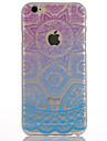 Pour Coque iPhone 6 Coques iPhone 6 Plus Translucide Autre Coque Coque Arriere Coque Fleur Dur Polycarbonate pour AppleiPhone 6s Plus
