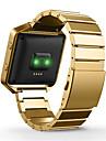 Preta / Rosa / Dourada / Prateada Metal Fecho Classico Para Fitbit Assistir 23 milimetros