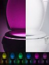 YWXLight 8 Colors Motion Activated Sensor Toilet Nightlight Home Bathroom Seat Lamp With Battery-Powered