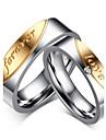 Кольца Сердце Кисточки Мода Винтаж Свадьба Для вечеринок Повседневные Бижутерия Циркон Титановая сталь Женский Мужчины Пара Кольца для пар