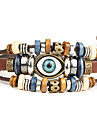 Punk Men's Bracelet PU Leather Bracelet Evil Eye Charm Multilayer for Men Fashion Jewelry Christmas Gifts
