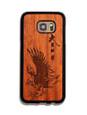 Natural Wood Eagle Black Bumper Ultra Thin Protective Back Cover Samsung Case for Samsung S7 egde/S7
