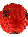 Cat / Dog Pet Toys Ball Squeak / Squeaking / Food Dispenser Red / Black / Blue Rubber