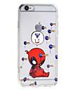 Pour Coque iPhone 7 Coques iPhone 7 Plus Coque iPhone 6 Transparente Motif Coque Coque Arriere Coque Dessin Anime Dur Acrylique pour Apple