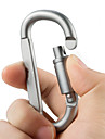Aluminum Alloy D Shape Carabiner Screw Lock Bottle Hook Buckle Hanging Padlock Key Chain Camping Hiking