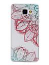 Pour Samsung Galaxy Coque Motif Coque Coque Arriere Coque Fleur Flexible PUT pour Samsung A5(2016) A3(2016)