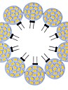 10pcs g4 15led smd5730 3w 200-300lm chaud blanc / blanc decoratif dc12v led bi-pin lights