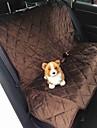Cachorro Cobertura de Cadeira Automotiva Animais de Estimacao Capachos e Alcochoadas Prova-de-Agua Dobravel Preto Castanho Felpudo