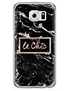 Black Marble Pattern Soft Ultra-thin TPU Back Cover For Samsung GalaxyS7 edge/S7/S6 edge/S6 edge plus/S6/S5/S4