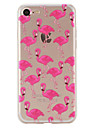 Para iPhone X iPhone 8 iPhone 7 iPhone 6 Capinha iPhone 5 Case Tampa Estampada Capa Traseira Capinha Flamingo Macia PUT para Apple iPhone