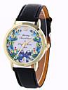Женские Нарядные часы Модные часы Наручные часы / Кварцевый PU Группа БабочкаЧерный Белый Синий Красный Коричневый Зеленый Кот Розовое